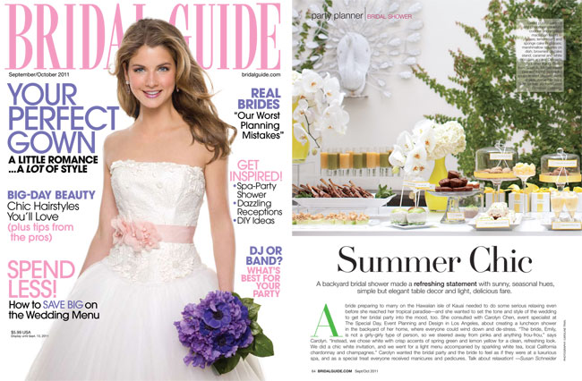 im so excited to share with you this bridal shower i shot thats currently featured in bridal guide magazine pick it up on newsstands now to read the full