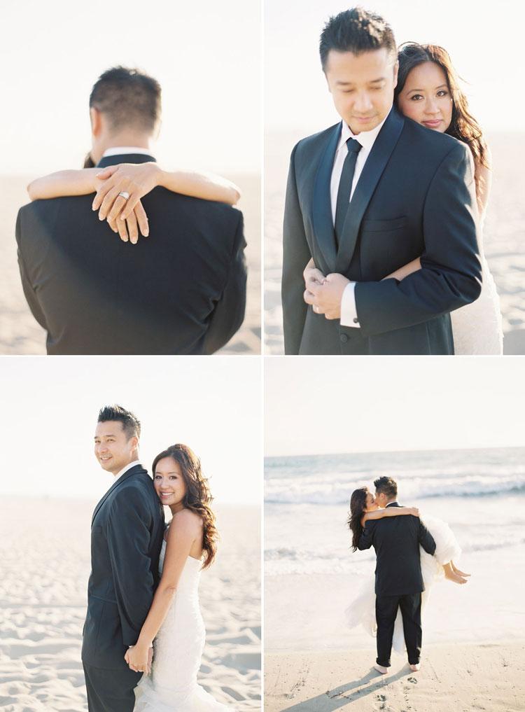 Beach Wedding Photos Encore Caroline Tran Los Angeles