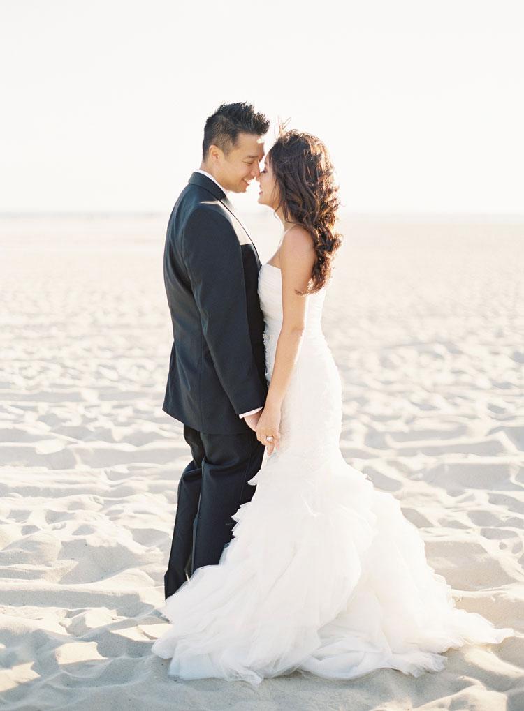 Beach Wedding Photos Encore Caroline Tran Los Angeles Wedding