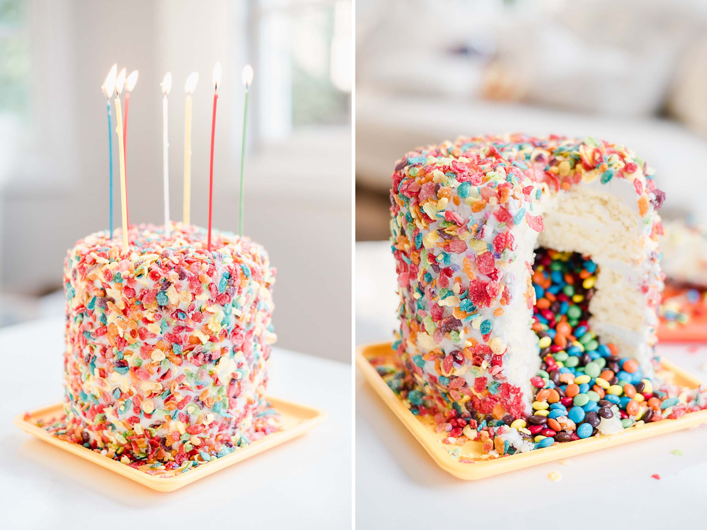 Diy Candy Surprise Inside Birthday Cake Caroline Tran
