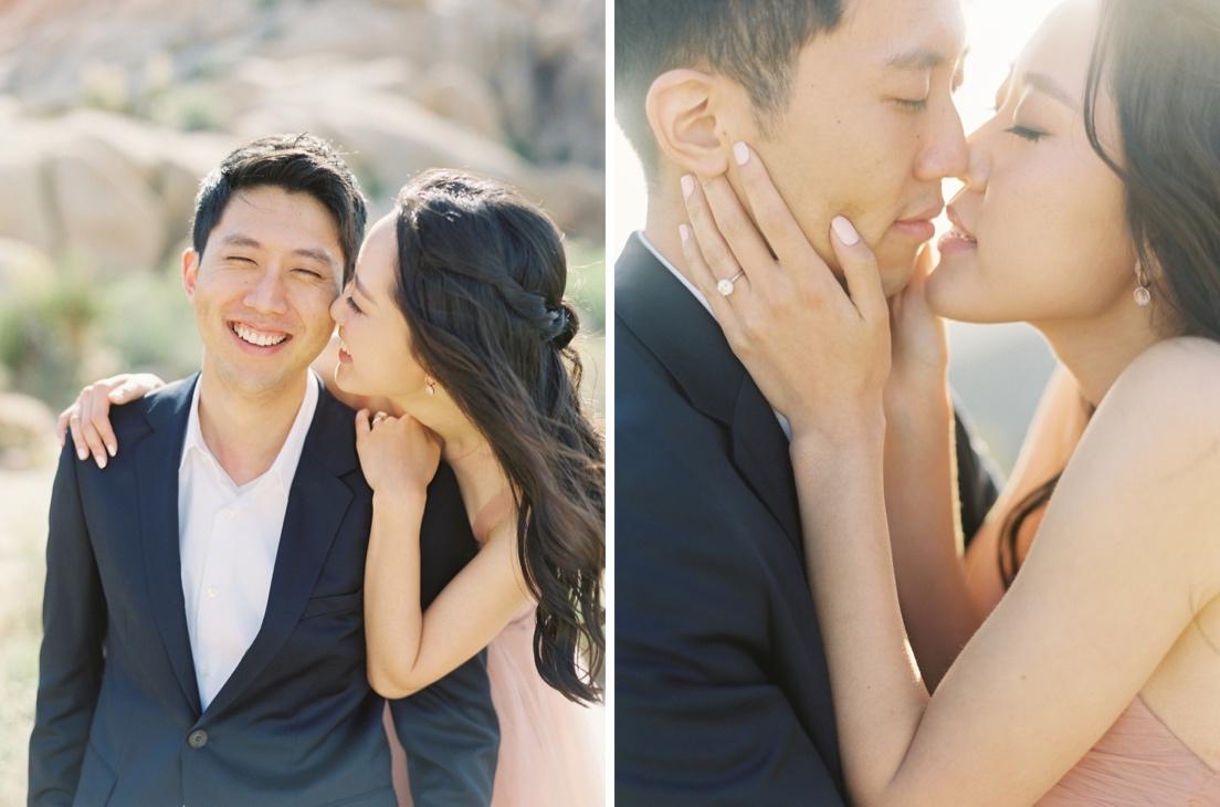 romantic engagement session in california