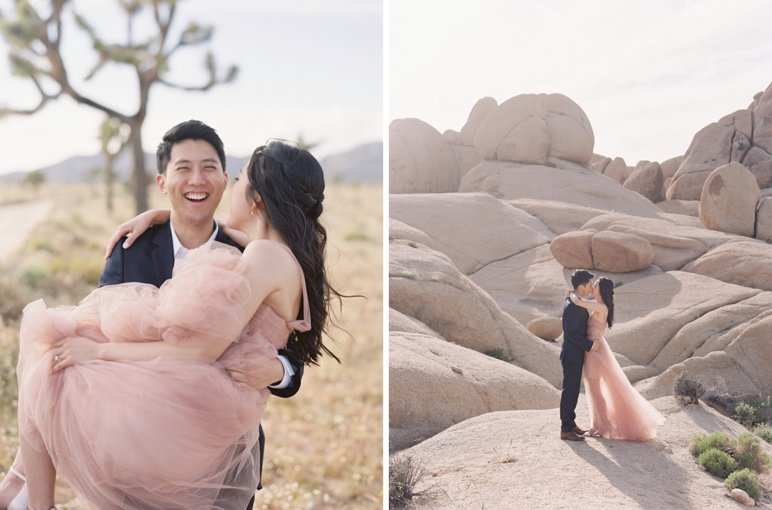 candid laughing engagement photography