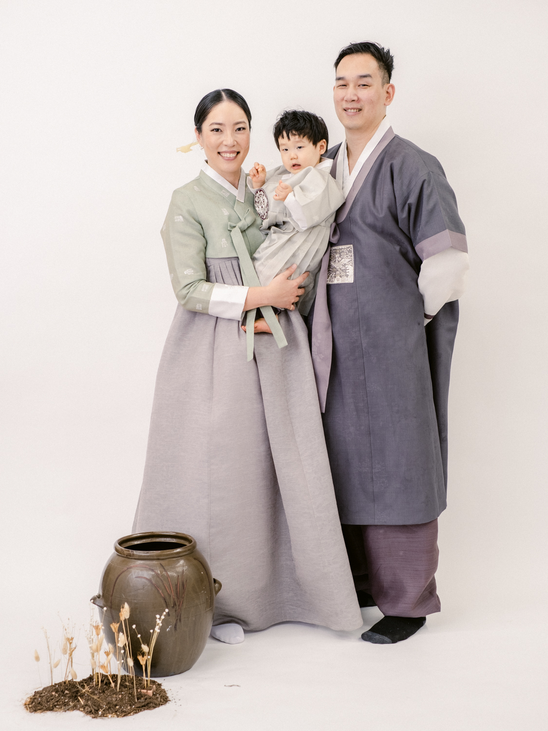 How to Celebrate Dol - Korean First Birthday Traditions - Family Portrait