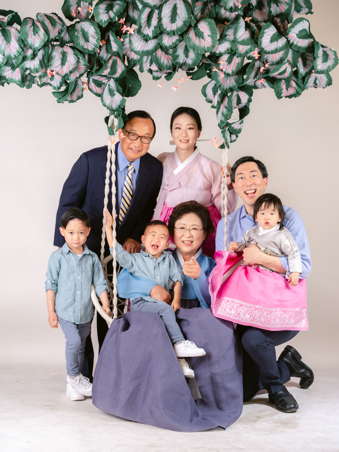 Hanbok family portraits in Los Angeles